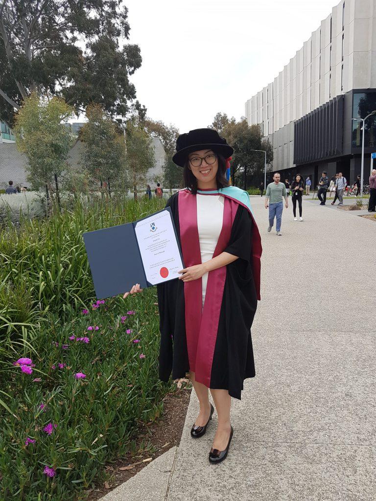 A big congrats for Dr. Cao's phd conferal